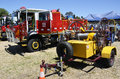 Firefighting displays at the australia day celebrations in geelong victoria australia the geelong west fire brigades tanker and Stock Photo