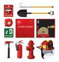Firefighting equipment Stock Images