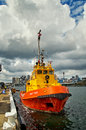 Firefighting tug boat Royalty Free Stock Photo