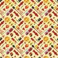 Firefiters pattern vector illustration.