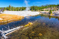 Firehole River in Yellowstone National Park Royalty Free Stock Photo
