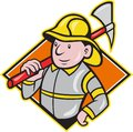 Fireman Firefighter Emergency Worker Royalty Free Stock Photography