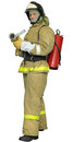 Fireman with a  Fog nozzle Royalty Free Stock Image