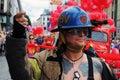 A fireman during a Gay Pride Parade