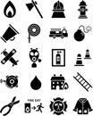 Fireman icons Stock Image