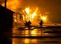 Firemen at work Royalty Free Stock Photo