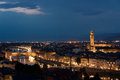 Firenze ponte vecchio panorma old bridge palazzo vecchio by view of main part and arno river Royalty Free Stock Photos