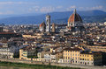 Firenze at Sunset. Royalty Free Stock Photo