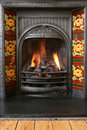 Fireplace 2 Royalty Free Stock Photography