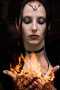 Firestarter Stock Photo