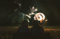 Firestarter show in phi phi island Royalty Free Stock Photos