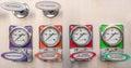 Firetruck gauges arranged in line Stock Image