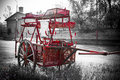 Firetruck a rusty old outdated manual fire truck Royalty Free Stock Images