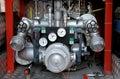 Firetruck water pump controls Royalty Free Stock Image