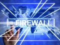 Firewall concept icon means protecting your computer or system from viruses - 3d illustration