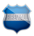 Firewall shield Stock Photo