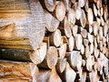 Firewood close up of a heap nice background pattern Royalty Free Stock Photography