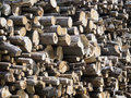 Firewood heap of nice background texture Royalty Free Stock Image