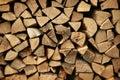 Firewood pile Royalty Free Stock Photo