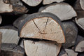Firewood pile for fire in winter Royalty Free Stock Images
