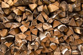 Firewood put texture background Royalty Free Stock Images