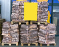 Firewood for sale Royalty Free Stock Photo