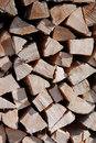 Firewood stack Stock Images