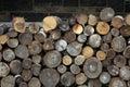Firewood stockpile of in the halifax citadel Stock Photos