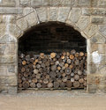 Firewood stockpile of in the halifax citadel Stock Images