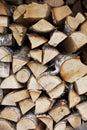Firewood Wall. Woodpile