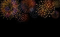 Firework bursting sparkle background set Royalty Free Stock Photo
