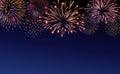 Firework bursting sparkle background set