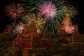 Firework Celebration at Old City Bagan.