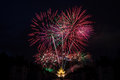 Firework celebration picture of in chiangmai thailand Stock Images