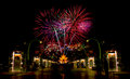 Firework celebration picture of in chiangmai thailand Stock Photo