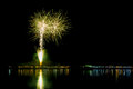 Firework colorful show taken in thailand Royalty Free Stock Photography