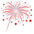 Firework design on white background Royalty Free Stock Image