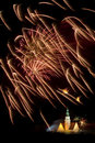 Firework display in Olsztyn  Royalty Free Stock Image