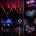 Firework festive celebrate of independent or new year day Royalty Free Stock Photos