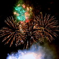 Firework fireworks stock photos golden on black night background Royalty Free Stock Images