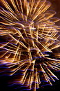 Firework fireworks stock photos golden on black night background Royalty Free Stock Photography