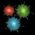 Firework in honor of Independence Day. Vector Illu Royalty Free Stock Photography