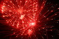 Firework the image of red light of the on dark background Stock Photo