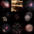 Firework impressions happy new year Royalty Free Stock Image