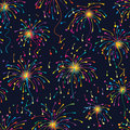 Firework line colorful seamless pattern