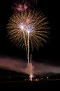 Firework at lisle on independent day Stock Photo