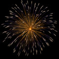 Firework over dark sky Royalty Free Stock Photo