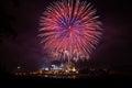 Firework at royal flora in chiangmai thailand Royalty Free Stock Image