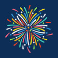 Firework shapes colorful festive vector icon.