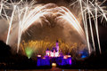 Firework show hong kong disneyland Royalty Free Stock Images